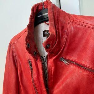 Great Condition Red XS Danier lamb skin jacket